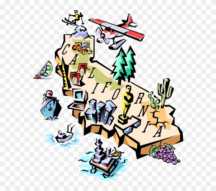 California vector. Illustration of map clipart