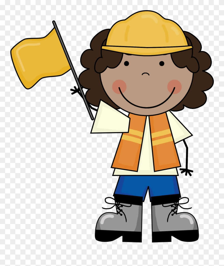 Index Of Images Scrappin - Construction Worker Boy Clip Art - Png Download