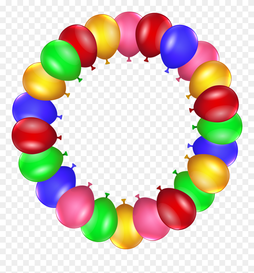 Balloon Border Frame Png Clip Art Transparent Png