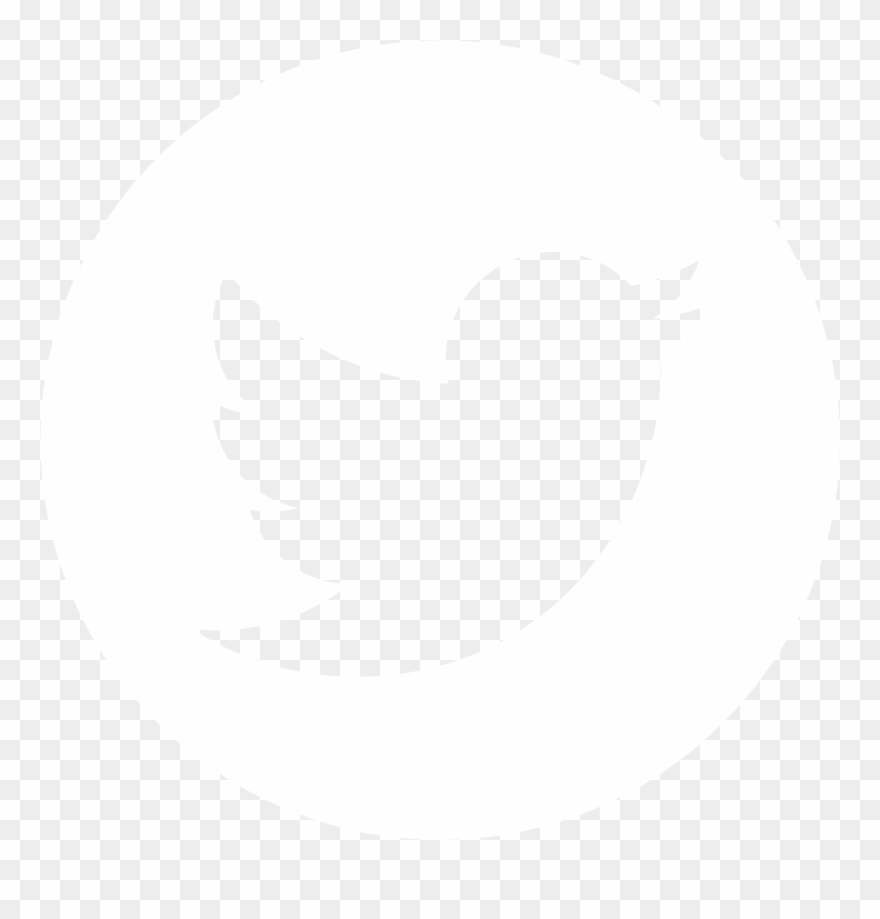 Twitter white. Logo round png clipart