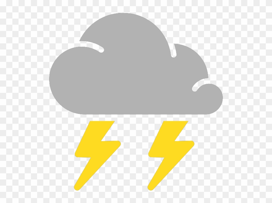 Rain thunderstorm. Clipart png download