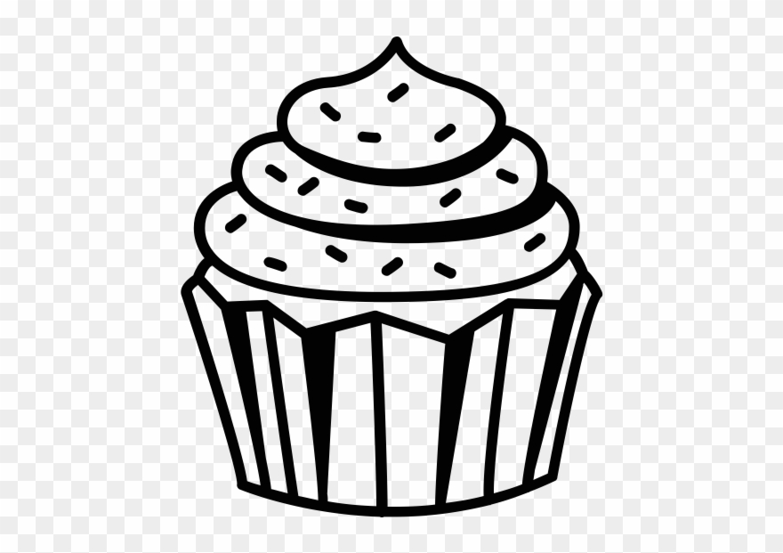 Cupcake black. Clipart and white cup