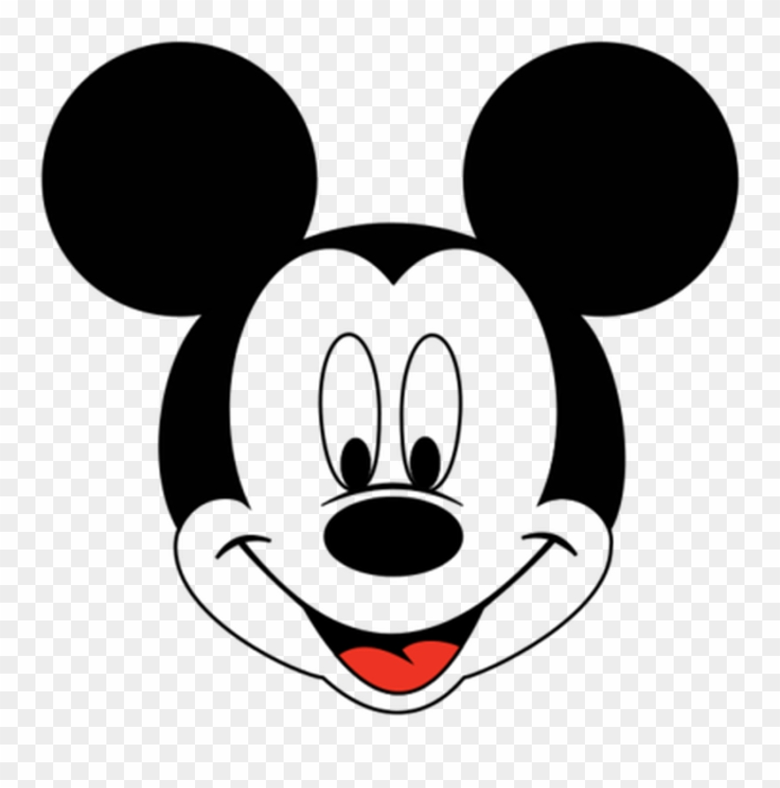 Mickey mouse head white. Clipart face svg png