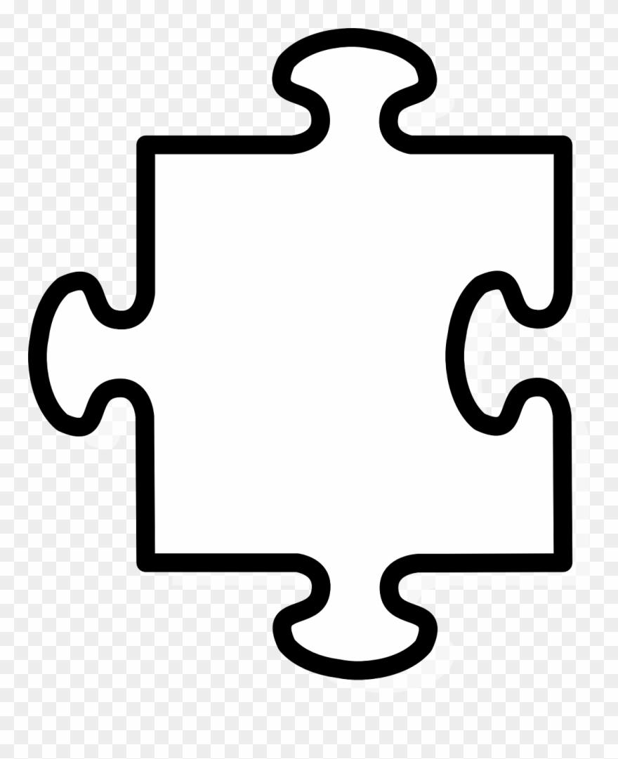Puzzle piece. Outline jigsaw clip art