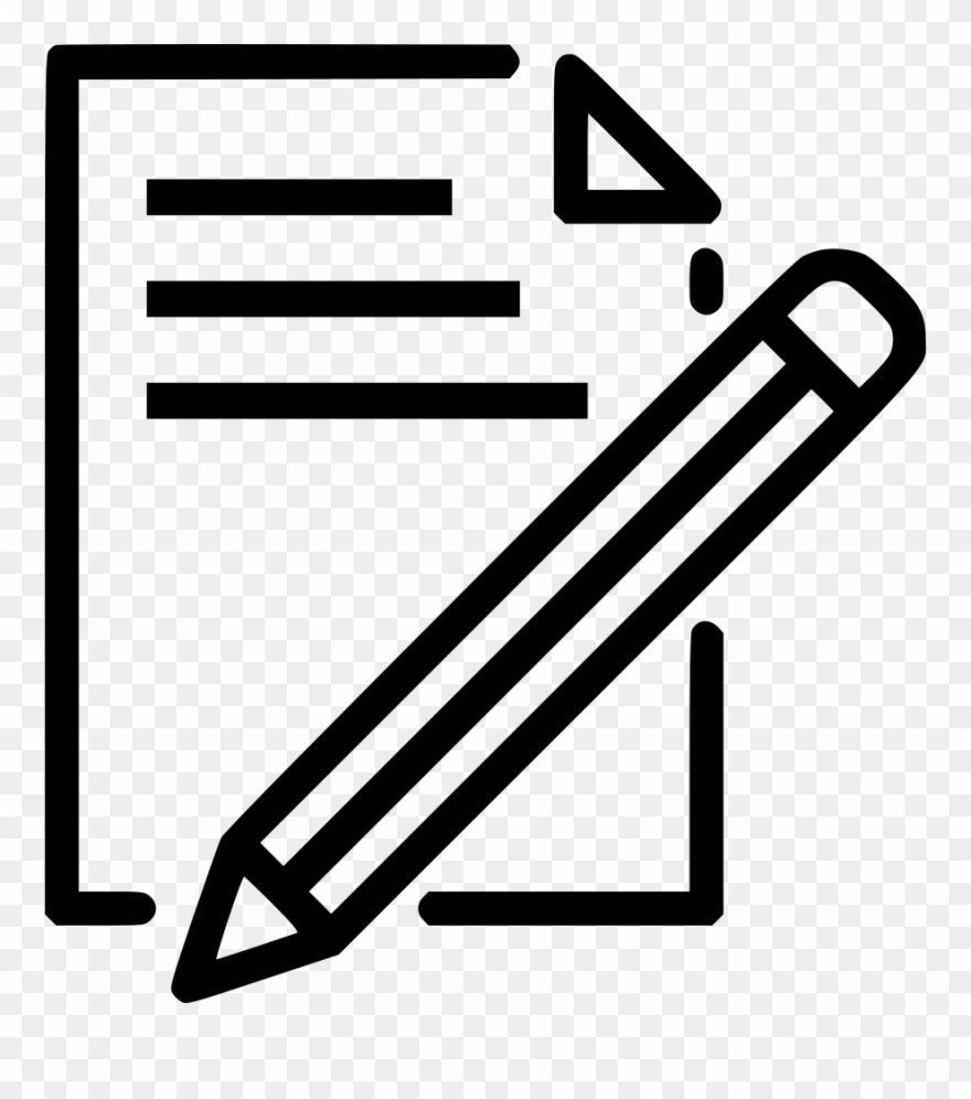 Clip art library document paper write pencil pen drawing paper and