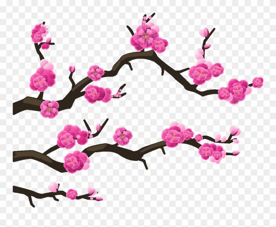 Sticker Branches Cerisier Du Japon Ambiance Sticker Clipart 2316898 Pinclipart