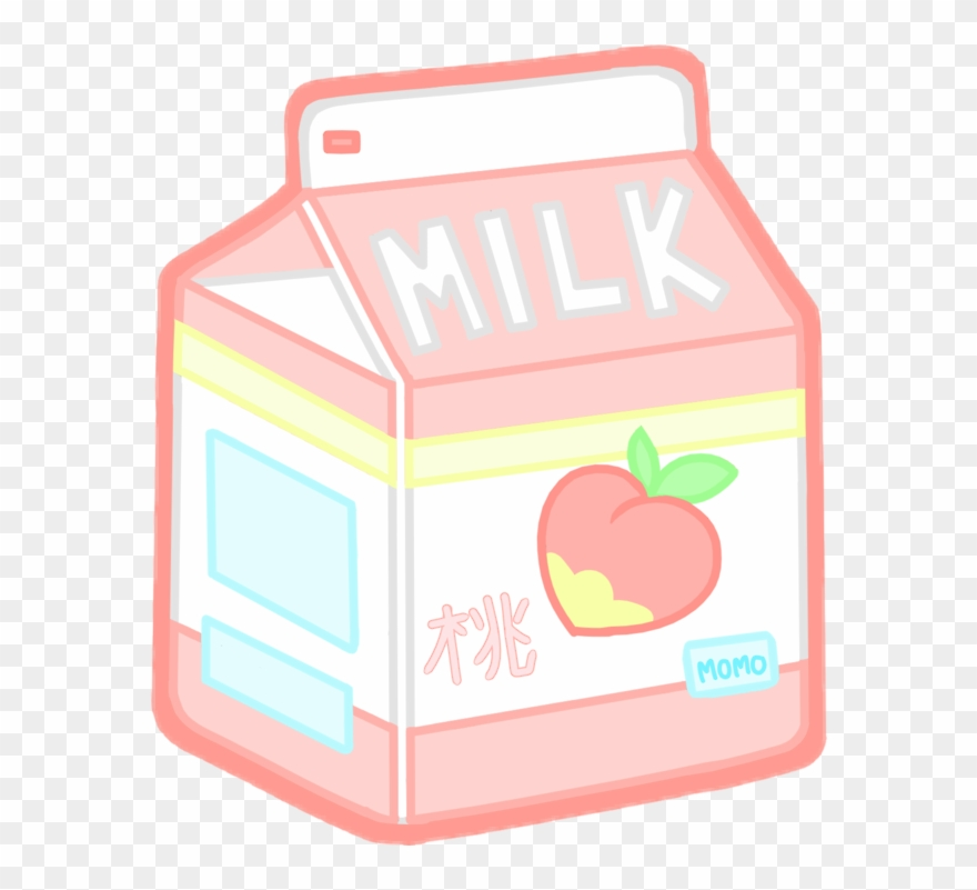 Milk Kawaii Tumblr Aesthetictumblr Peach Peachmilk Clipart