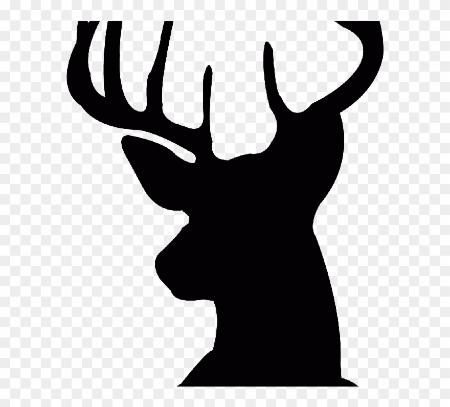 Free Deer Head Silhouette Download Free Clip Art Png Download 2343817 Pinclipart