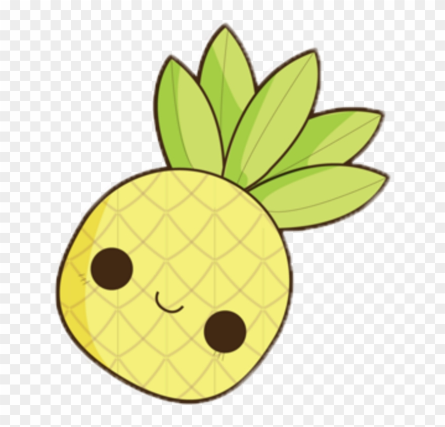 Kawaii Ananas Face Fruits Tropical Clipart 2356356