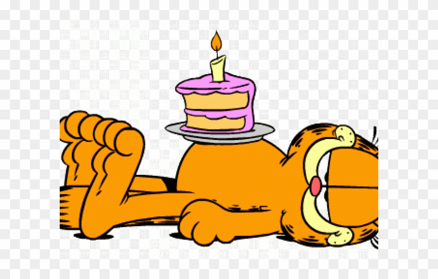 Surprising Garfield Clipart Cake Png Download 2370681 Pinclipart Personalised Birthday Cards Veneteletsinfo