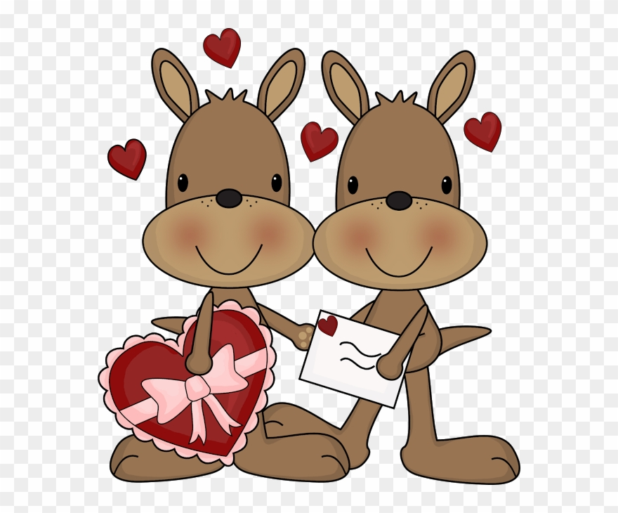 Cute Clipart Kangaroos Clip Art Hugs Kisses Images Png