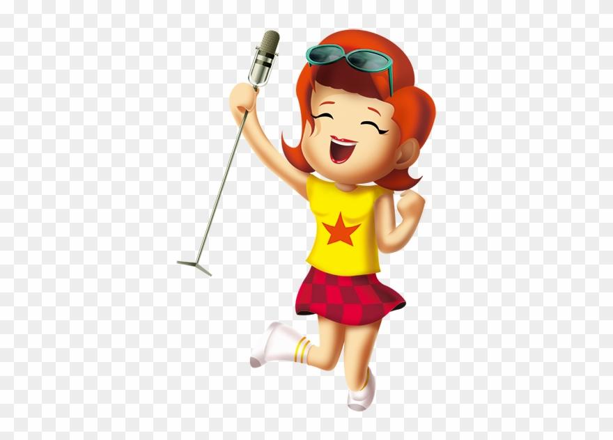 Картинка девочка с микрофоном, именины людмиле
