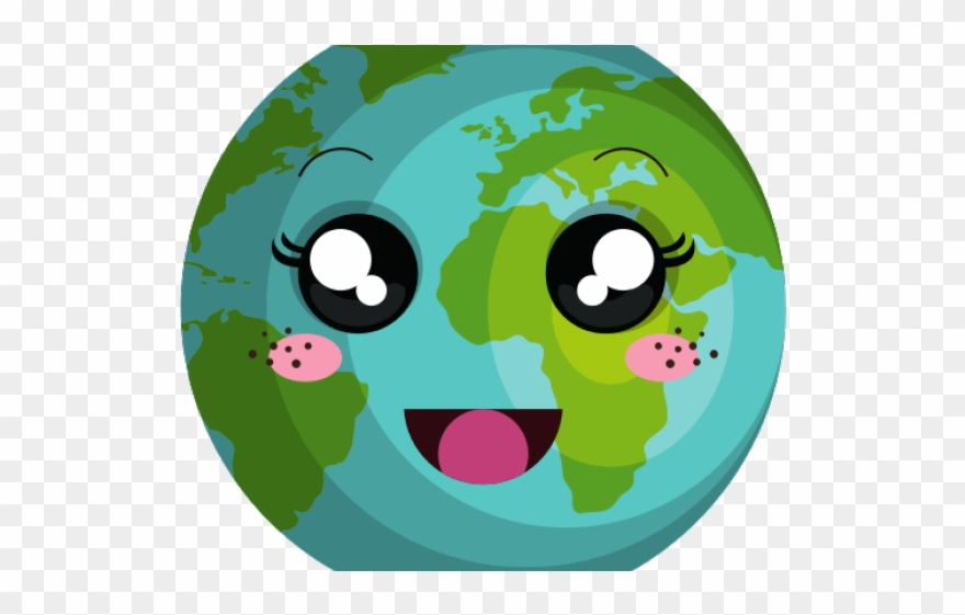 Earth kawaii. Planets clipart planet png