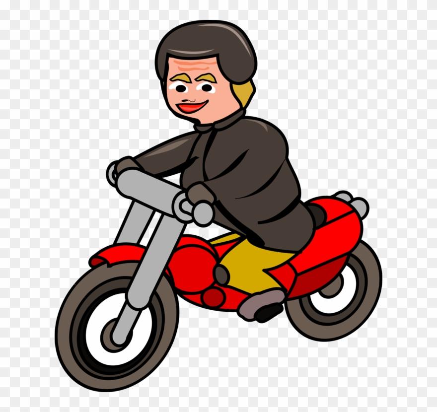 Car Scooter Motorcycle Bicycle Motor Vehicle Gambar Orang Naik Sepeda Motor Clipart 241763 Pinclipart