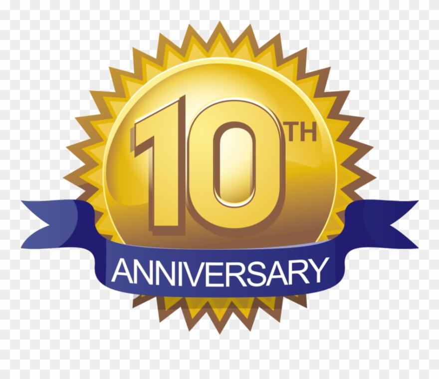 Clip Art 10th Anniversary Clip Art 10 Aniversario Png Transparent