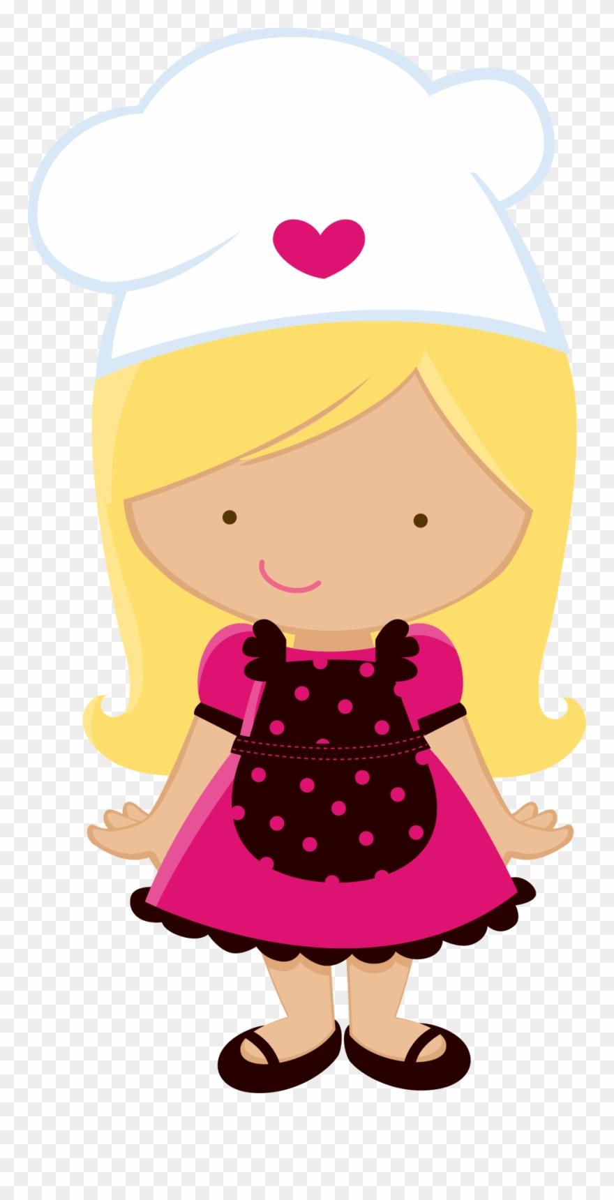 Menina Chefe De Cozinha Desenho Clipart 243896 Pinclipart