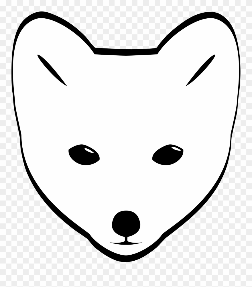 Polar fox clipart polar arctic fox face drawing png download