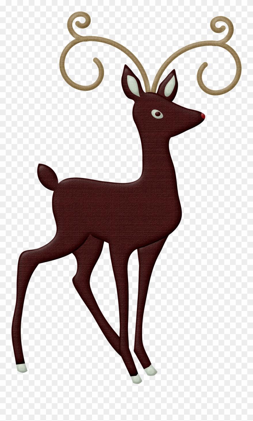 Christmas Reindeer Png.Christmas Reindeer Clip Art Animals Png Facing Right