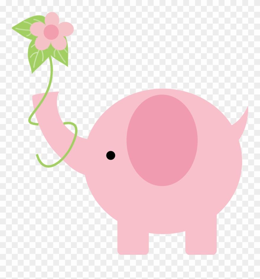 Pink Elephant Little Elephant Elephant Baby Showers Baby