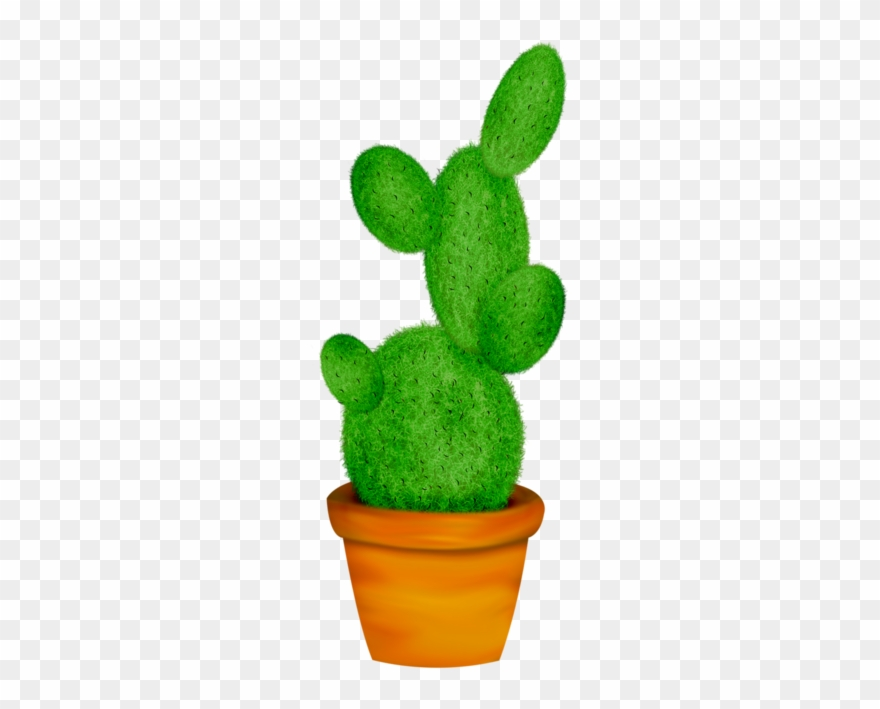 Cactus potted. Home clipart vector leaf