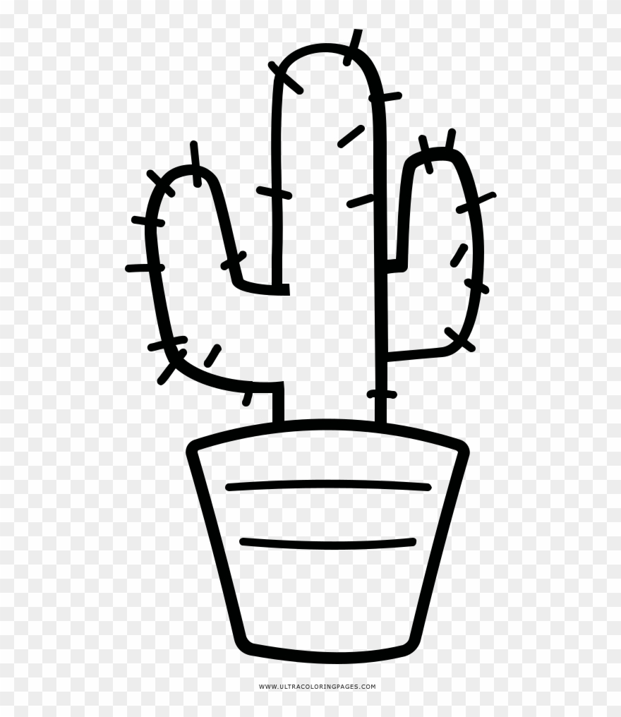 Survival Cactus Coloring Page Printable