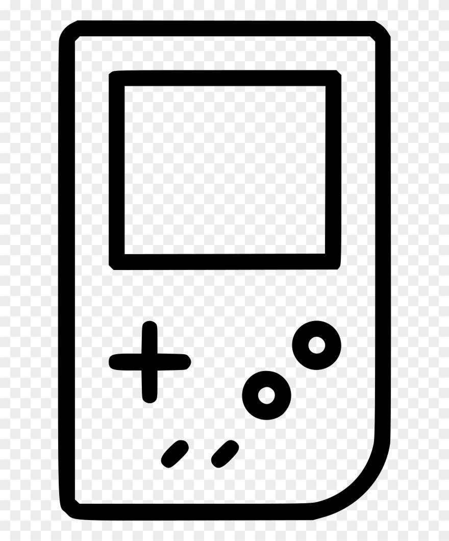 Nintendo gameboy video console games gaming device clipart - Nintendo clipart ...