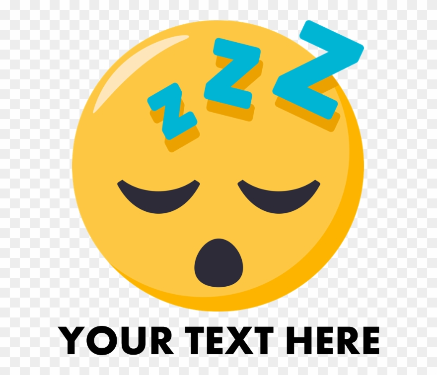 Sleepy Face Emoji Person Rectangular Canvas Pillow Clipart (#2436738