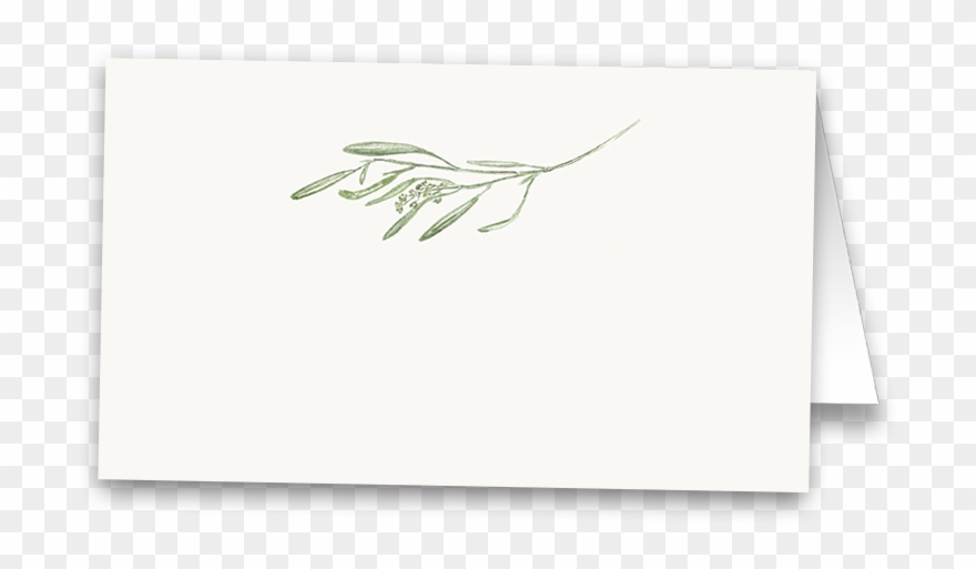 Rustic Greenery Leaves Wedding Table Seating Cards Clipart