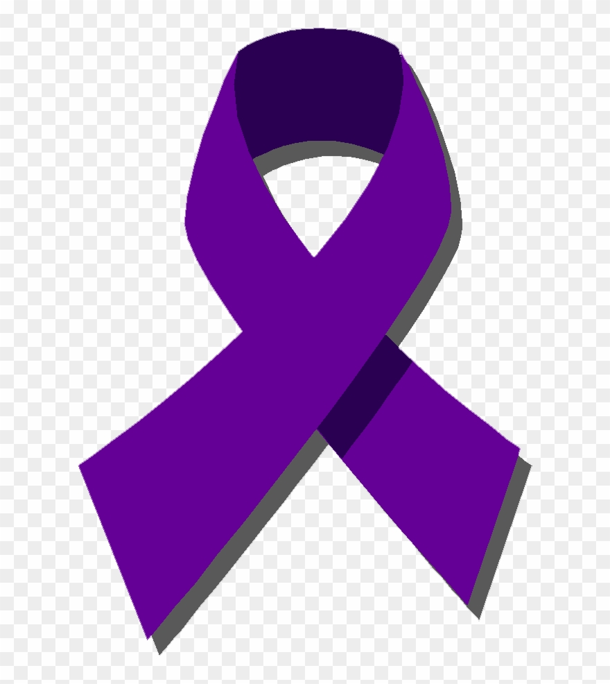 Ribbon purple. For cancer domestic violence