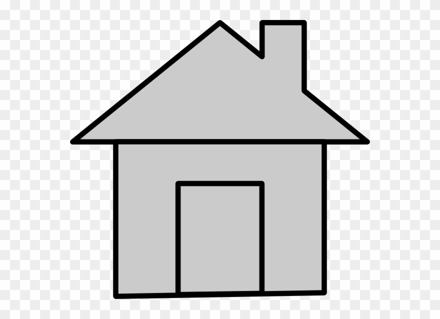 House small. Gray cartoon clipart pinclipart