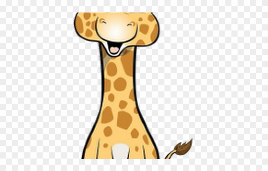 Cute Clipart Giraffe Baby Giraffe Cartoon Drawing Png Download