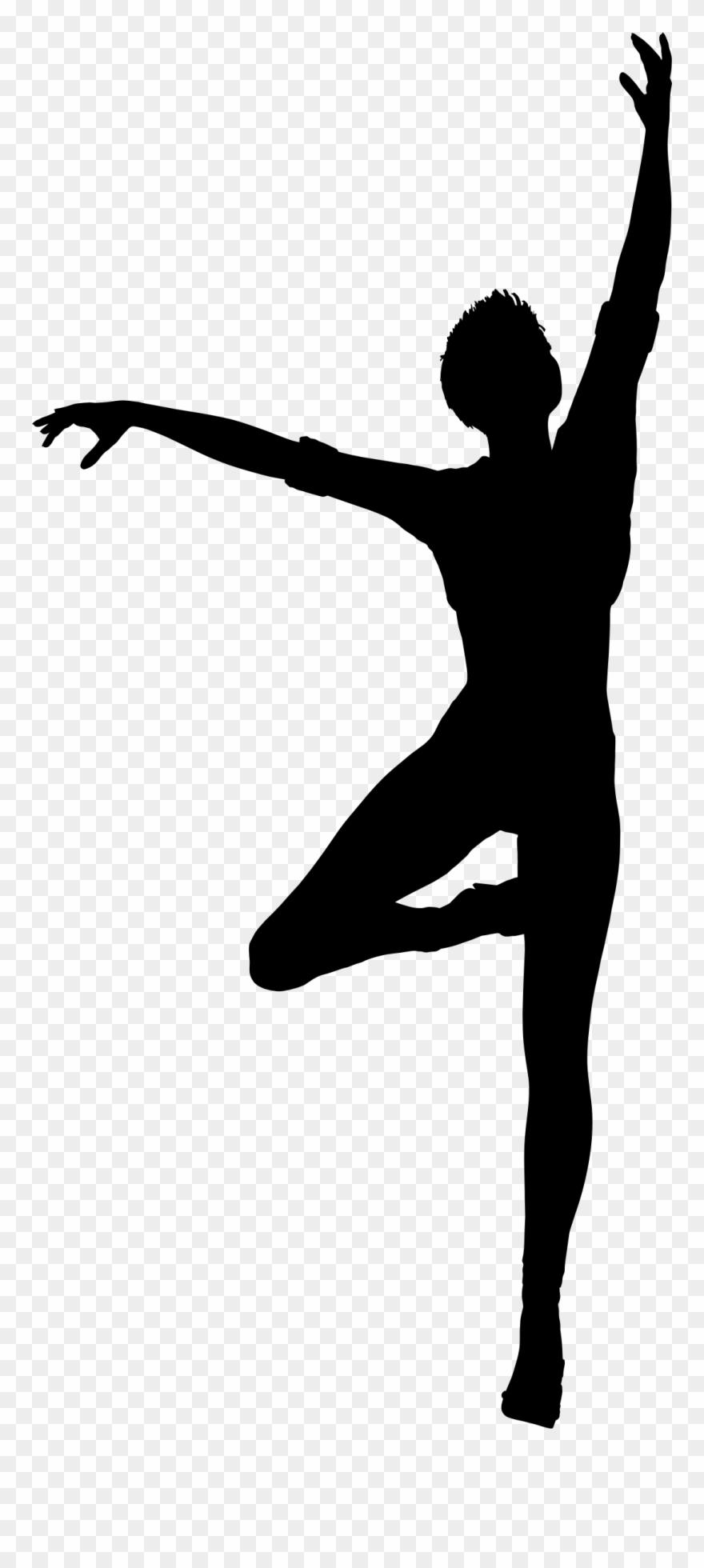 Dancing Woman Silhouette Dancing Human Clipart 259950 Pinclipart