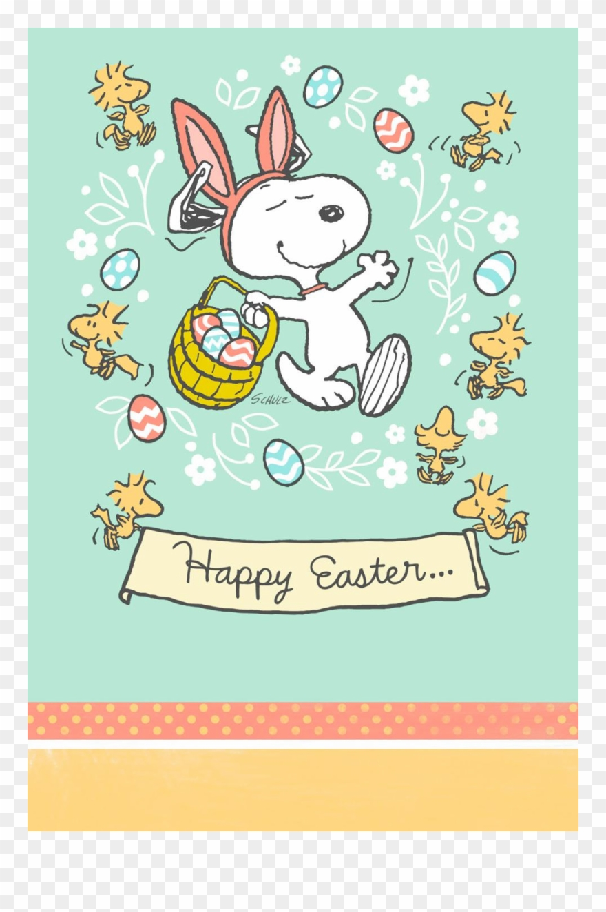 Easter snoopy. Peanuts it s the
