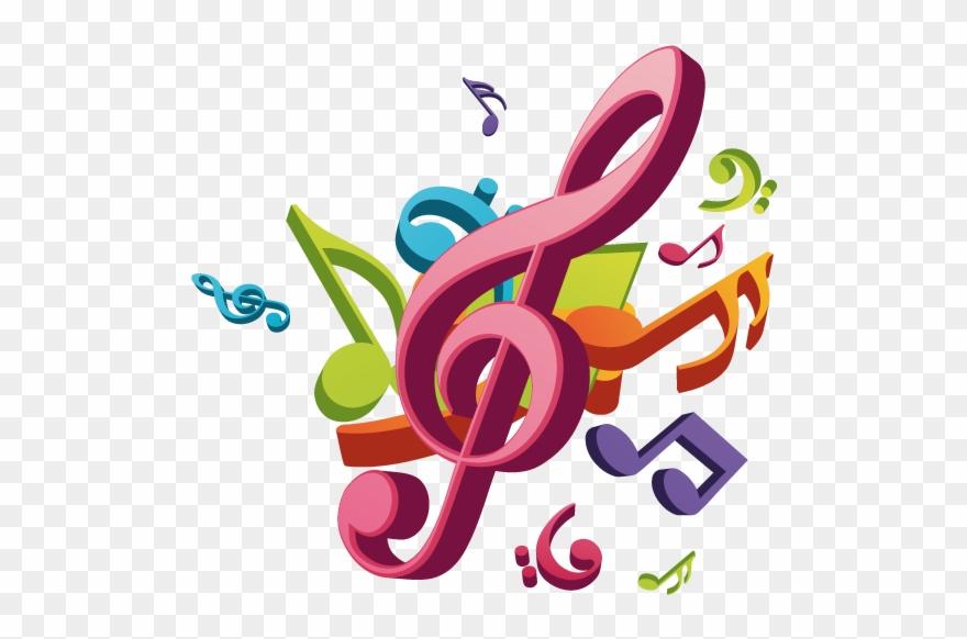 Clipart Note De Musique Couleur Png Download Full Size Clipart 2534143 Pinclipart
