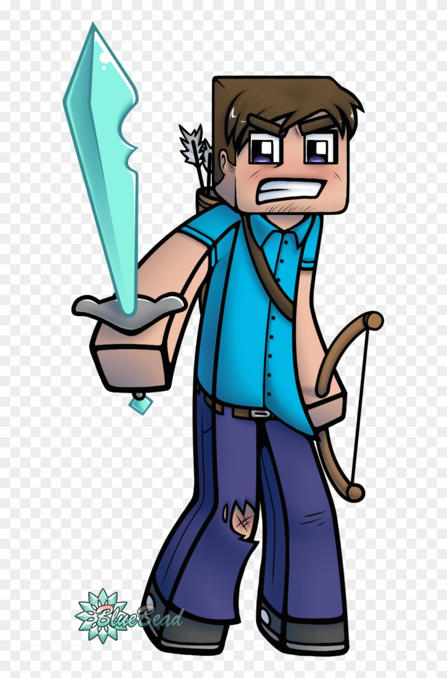 Cartoon Minecraft Steve Meets Alex Pictures To Pin Clipart