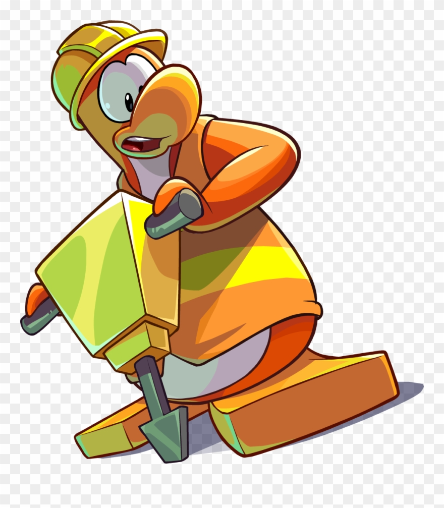 Clipart Clothes Construction Worker - Construction Worker Club Penguin - Png Download