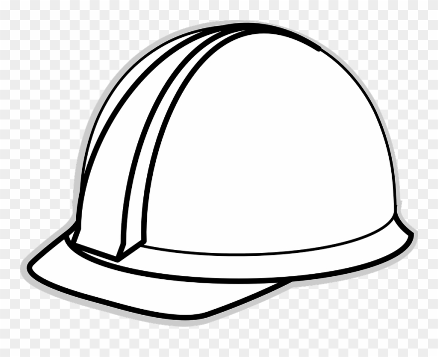 Helmet Clipart Construction Worker Hard Hat White Cartoon Png Download 261359 Pinclipart