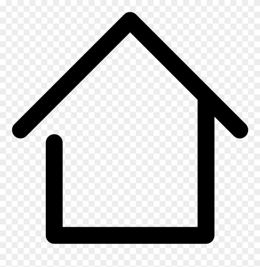 Real Estate Clipart Png File Clip Art Freeuse Home Line Icon Png Transparent Png 265145 Pinclipart