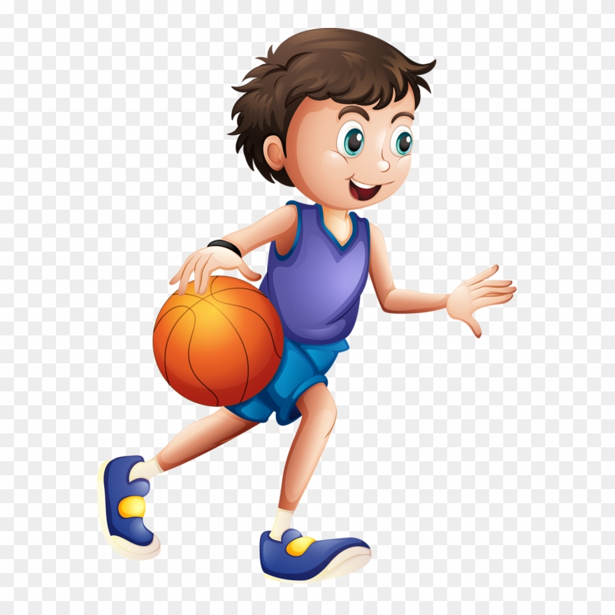 Basketball moving. Female clipart badminton player