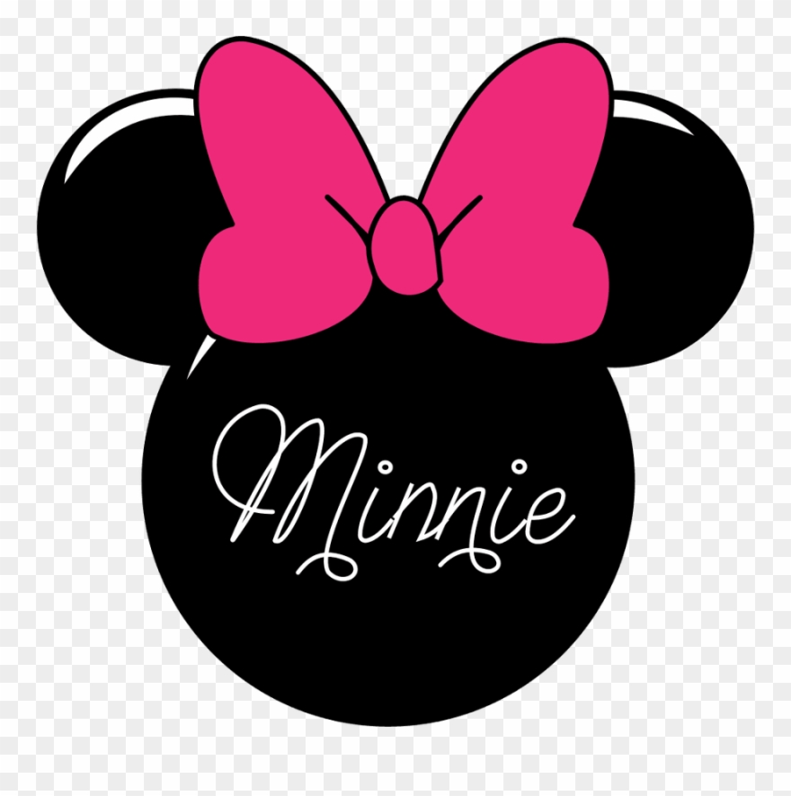 Minnie mouse silhouette. Clip art head png