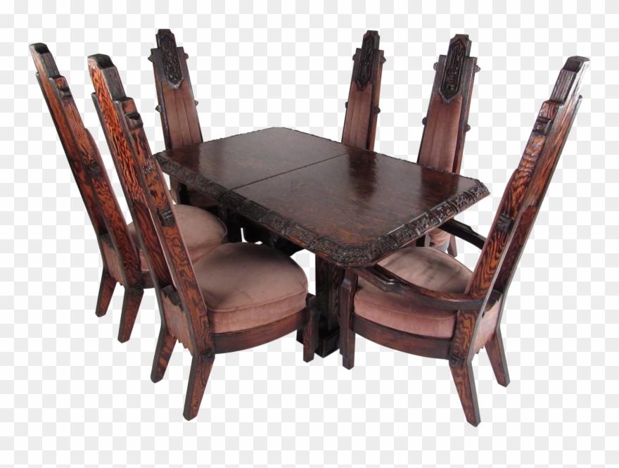Primitive Dining Table Set Sawbuck Dining Brutalist Clipart