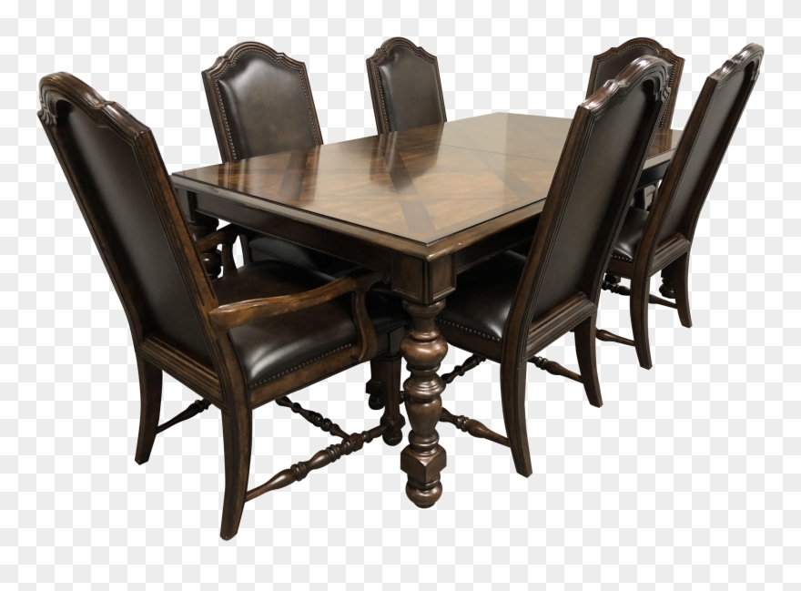 Groovy Bernhardt Normandie Manor Dining Table Six Chairs Clipart Download Free Architecture Designs Scobabritishbridgeorg