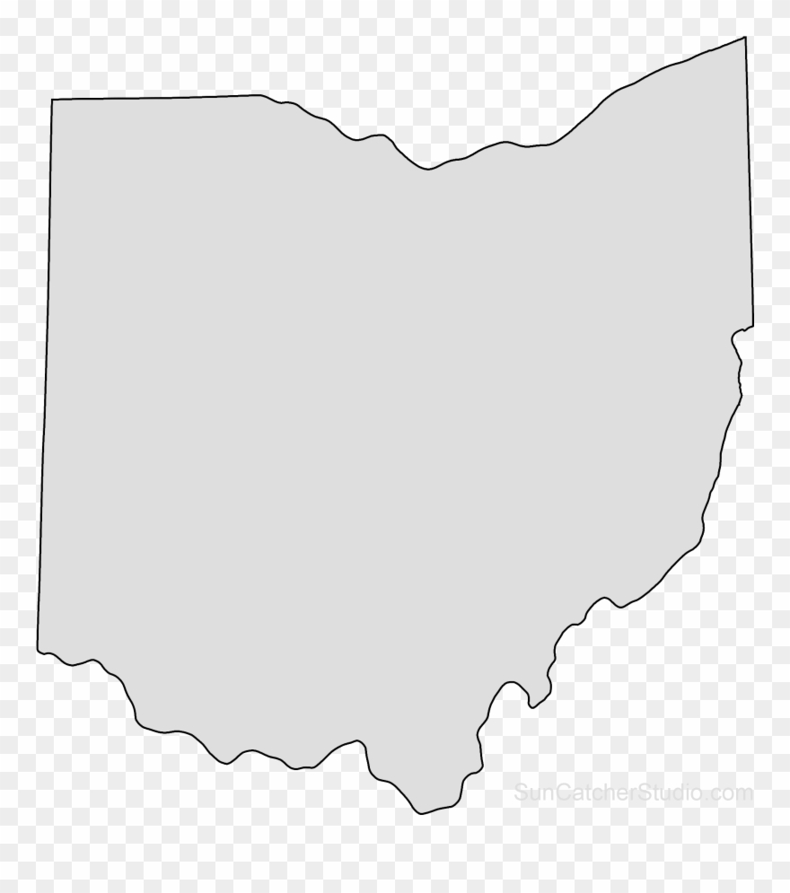 state of ohio map outline Ohio Map Outline Png Shape State Stencil Clip Art Scroll