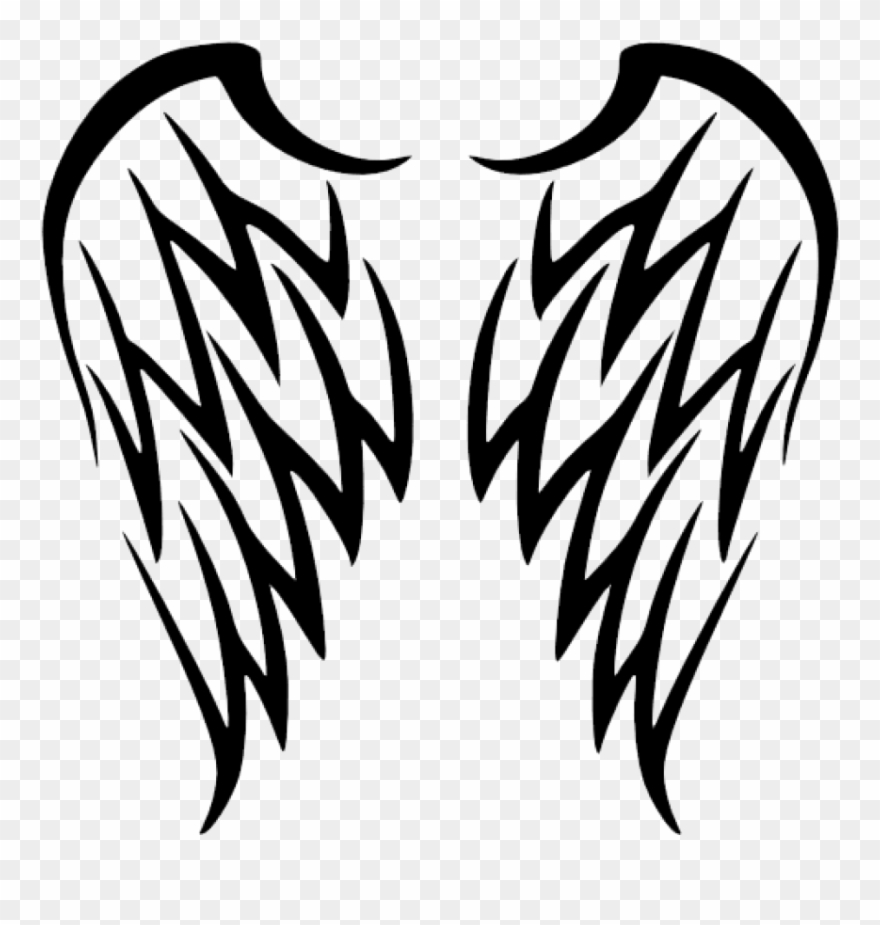 Wings tribal. Free png download angel
