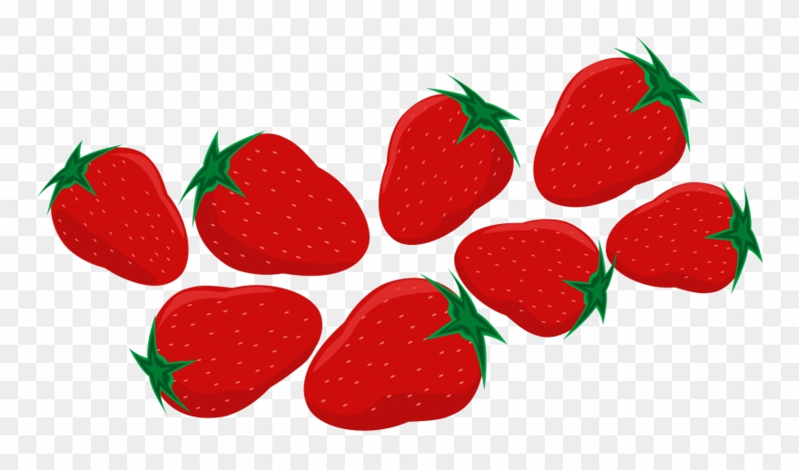 Strawberry Served with Cream, Sweet Berry Dessert - vector clipart