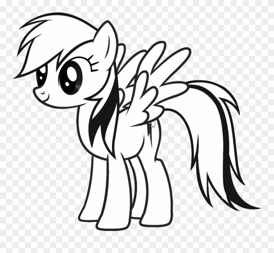 Pony Line Cliparts My Little Pony Coloriage Rainbow Dash Png