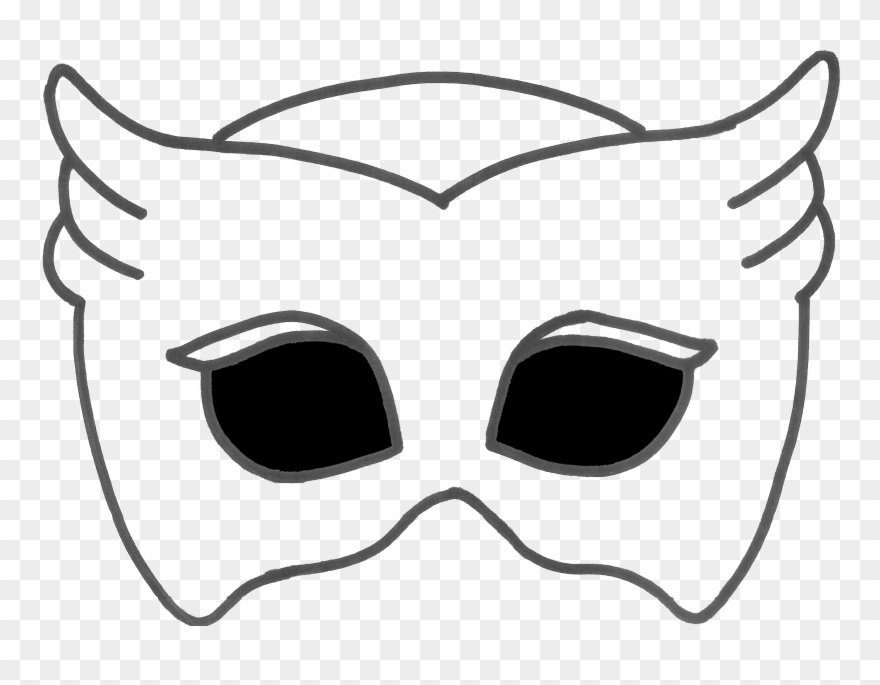 graphic about Pj Mask Printable named Printable Pj Masks Mask Clipart (#273495) - PinClipart