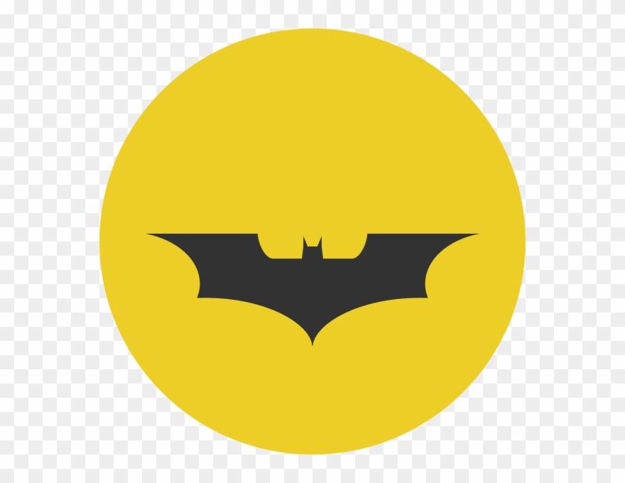 Batman symbol dark knight. Clipart vector yellow png