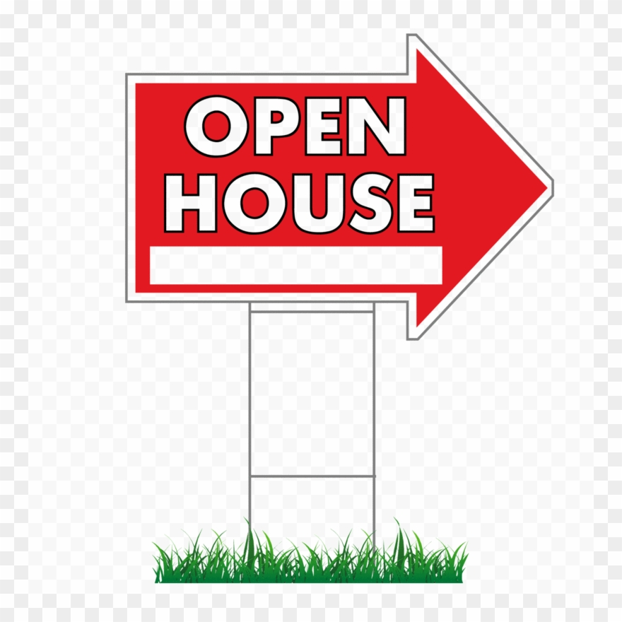 """16"""" X 24"""" Open House Directional Arrow Signs & Stakes ..."""