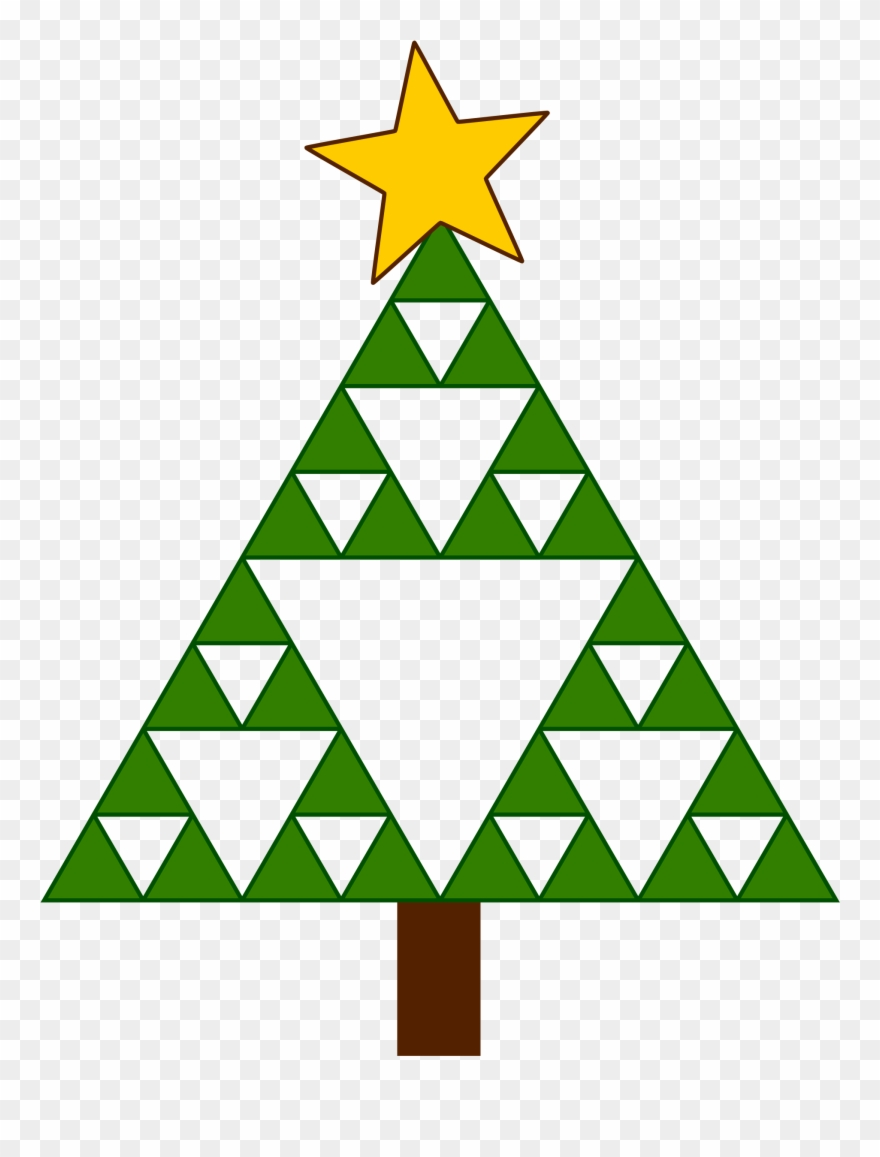 Triangle tree. Clip christmas clipart freeuse